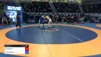 61 kg Consolation - Mason Clarke, New York City RTC vs Cullan Schriever, Hawkeye Wrestling Club