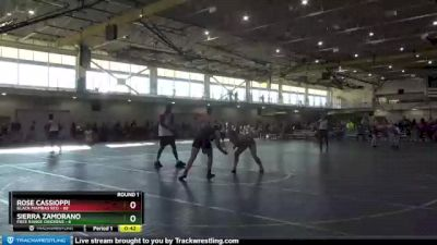 164 lbs Round 1 (4 Team) - Rose Cassioppi, Black Mambas Red vs Sierra Zamorano, Free Range Chickens