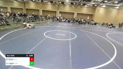 120 lbs 3rd Place - Bridger Ricks, Sanderson Wr Ac vs Sean Logue, Team Stellar