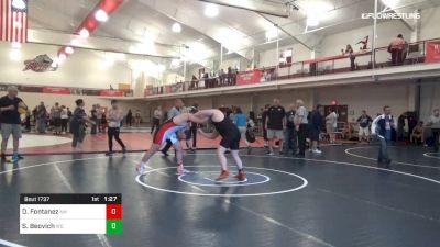 220 lbs 3rd Place - Devin Fontanez, NH vs Stephen Beovich, WO