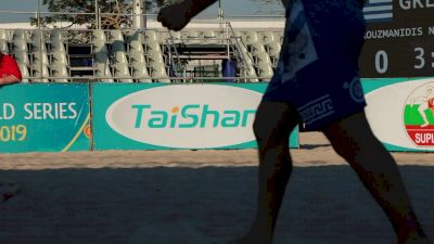 70 kg, Beach Wrestling, Bronze Medal Match, Reece Humphrey, USA vs Niko Arouzmanidis, GRE