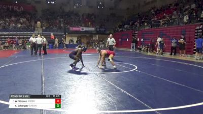 174 lbs Consi of 8 #2 - Wayne Stinson, Rider vs Khamari Whimper, Univ Of Pennsylvania