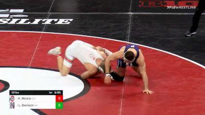 197 lbs Semifinal - Kollin Moore, Ohio State vs Lucas Davison, Northwestern