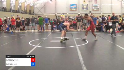 74 kg Round Of 64 - Elijah Cleary, TMWC/Ohio RTC vs Evan Fisler, Gannon University