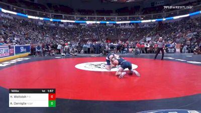 160 lbs Quarterfinal - Hunter Weitoish, Philipsburg-Osceola vs Andrew Cerniglia, Notre Dame GP