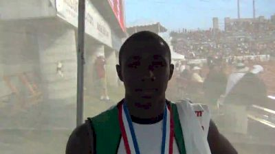 Kahlil Cooper runs a perfect 400m and goes out as a state champion