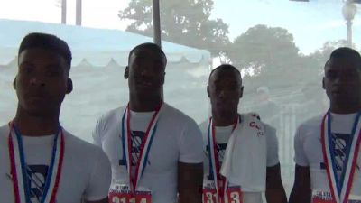 The Paris 4x2 remember the sting of last year, but torch the track to win with a new conference record