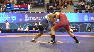 80 kg 1/8 Final - Csaba Attila Szinay, Hungary vs Abdullokh Abdumutalibov, Uzbekistan