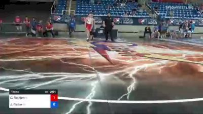 145 lbs Round Of 256 - Caleb Rathjen, Iowa vs Jerrdon Fisher, Kansas
