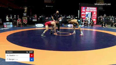 70 kg Quarters - Ryan Deakin, Titan Mercury Wrestling Club vs Tyler Berger, TMWC / California RTC