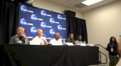 Coach introductions and Chris Bucknam on coming off NCAA Indoors