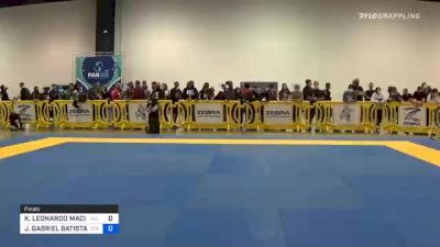 KENNEDY LEONARDO MACIEL vs JOÃO GABRIEL BATISTA DE SOUSA 2020 IBJJF Pan No-Gi Championship