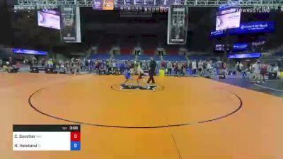 145 lbs Consi Of 8 #2 - Conor Goucher, Washington vs Hagen Heistand, Iowa