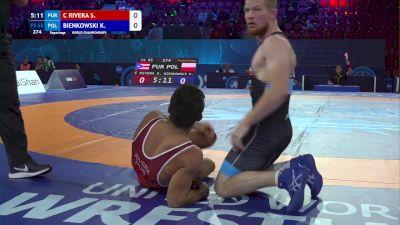 65 kg Repechage #2 - Sebastian Rivera, Puerto Rico vs Krzysztof Bienkowski, Poland
