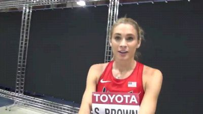 Sarah Brown didn't have the pop in 1500 semi at Moscow World Champs 2013
