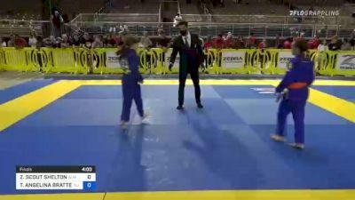 ZOEY SCOUT SHELTON vs TAYA ANGELINA BRATTELLI 2021 Pan Kids Jiu-Jitsu IBJJF Championship