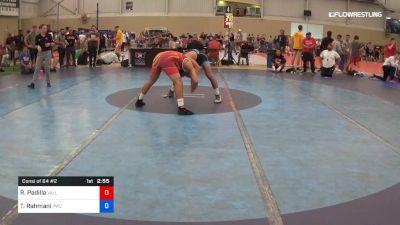 74 kg Consi Of 64 #2 - Ricky Padilla, Valley RTC vs Taleb Rahmani, Pittsburgh Wrestling Club
