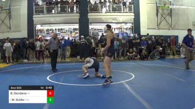 120 lbs Consy 3 - Dom Giordano, Kiski Area vs Wil Guida, St. Paul's-MD