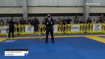 YURI ALLISON P. DOS SANTOS vs GIANCARLO BODONI 2021 Pan IBJJF Jiu-Jitsu No-Gi Championship