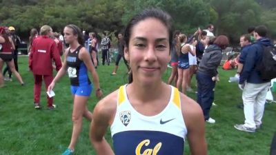 Cal's Kelsey Santisteban after smooth victory at at 2013 USF XC Invite