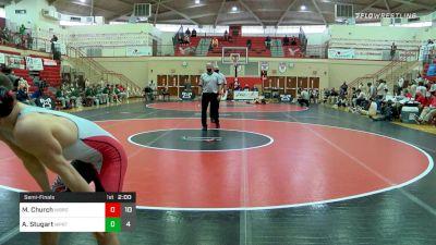 126 lbs Semifinal - Mac Church, Waynesburg vs Austin Stugart, Williamsport