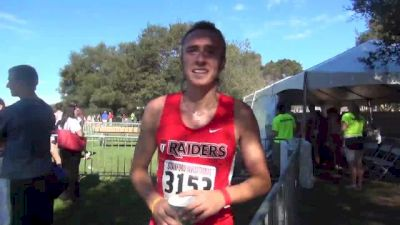 Southern Oregon's Erc Avila after 7th place finish at 2013 Stanford XC Invitationalinterview