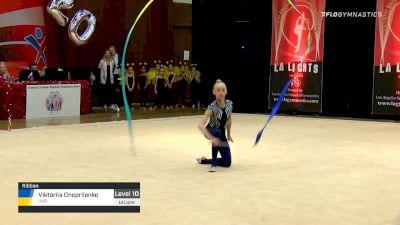 Viktoriia Onopriienko - Ribbon, UKR - 2020 LA Lights Tournament of Champions