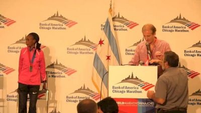 Chicago Marthon-Press Conference-Women's Top 3 (Part 1)