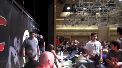 The weigh in stage and behind the curtain