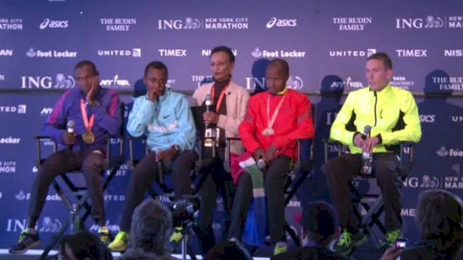 Ryan Vail press conference after NYC Marathon 2013