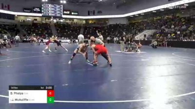 141 lbs Prelims - Dylan Phelps, Olivet College vs Jimmy McAuliffe, Elmhurst University