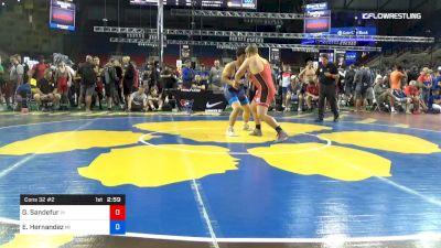 220 lbs Cons 32 #2 - Garrett Sandefur, Indiana vs Eric Hernandez, Michigan