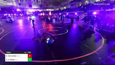 120 lbs Round Of 32 - Haden Hernandez, Team Thunder vs Amadaeus Gurule-Valles, Purebred Elite