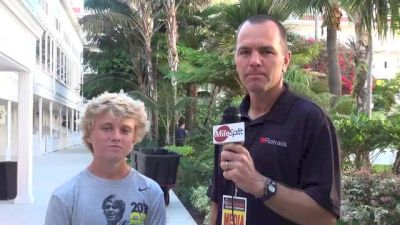 Blair Hurlock, 8th place boys, talks about college recruiting process