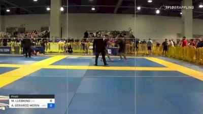 MARK LUEBKING vs ALFONSO GERARDO MORIN JR. 2021 American National IBJJF Jiu-Jitsu Championship