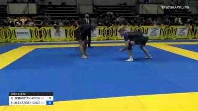 CHARLES SEBASTIAN ADORIAN vs ELDER ALEXANDER CRUZ 2021 Pan IBJJF Jiu-Jitsu No-Gi Championship