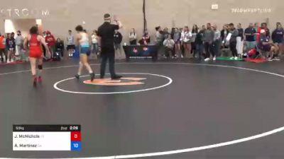 53 kg Quarterfinal - Lesly Hernandez, AR vs Sage Mortimer, UT