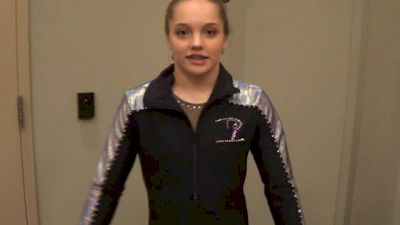 Reagan Campbell after winning the all around at the Classic Rock Invitational