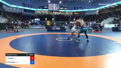 82 kg Quarterfinal - John Hagey, 505 Wrestling Club vs Ben Provisor, New York Athletic Club