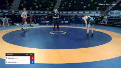 67 kg 7th Place - Dallas Koelzer, Kansas vs Seth Lambers, Ohio