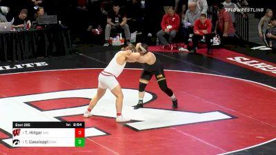 285 lbs 3rd Place - Trent Hillger, Wisconsin vs Tony Cassioppi, Iowa