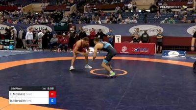 65 kg 5th Place - Frank Molinaro, Titan Mercury Wrestling Club vs Bryce Meredith, New York Athletic Club