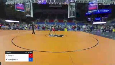 138 lbs Consi Of 8 #2 - Davin Rose, Minnesota vs Koy Buesgens, Minnesota
