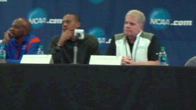 Arkansas and Oregon coaches debate DMR entries