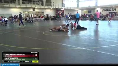 127 lbs Round 2 - Maddie Marsh, Red Cobra vs Jade Chloe Johnson, Westerville North High School