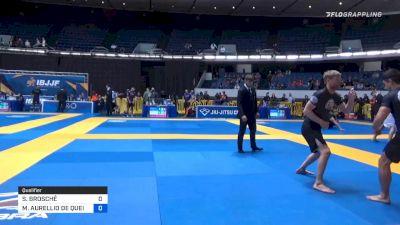 SEBASTIAN BROSCHÉ vs MARCO AURELLIO DE QUEIROZ 2019 World IBJJF Jiu-Jitsu No-Gi Championship