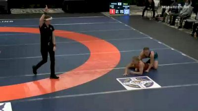 53 kg Final - Jacarra Winchester, Team Winchester vs Alisha Howk, Team Mensah Stock