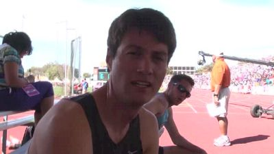 Peter van der Westhuizen, the Austinite, takes the win at TX Relays