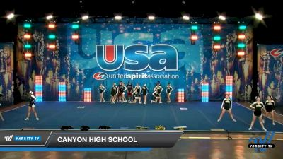 Canyon High School [2020 Medium Varsity Show Cheer Intermediate (13-16) Day 2] 2020 USA Spirit Nationals