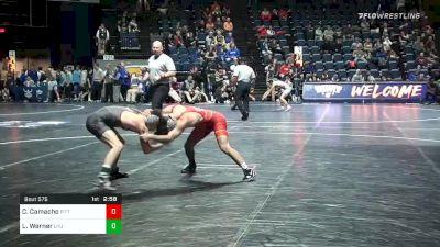 125 lbs Quarterfinal - Colton Camacho, Pittsburgh vs Luke Werner, Lock Haven